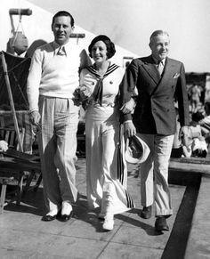 Ben Lyon, Bebe Daniels and Skeet Galllagher on vacation in Palm Springs. February, 1933
