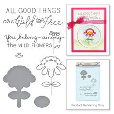 Spellbinders - Love Set Match Collection - Die and Cling Mounted Stamp Set - Beau-ti-ful