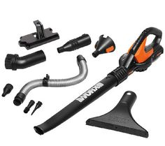 Worx Air 20V Cordless Blower/Sweeper w/ Wall Bracket & 8 Attachments