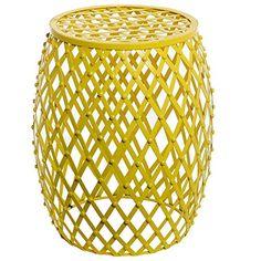Bohemian Chic Openwork Lattice Design Yellow Metal Garden Stool / Decorative Accent Stand - MyGift® MyGift http://www.amazon.com/dp/B00ZH3AQ6S/ref=cm_sw_r_pi_dp_lXPqwb0Q08AWF
