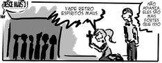 RABISCOS ENQUADRADOS: DESCE MAIS 3! Nº 290,5: ÀS VEZES NEM REZAR ADIANTA...
