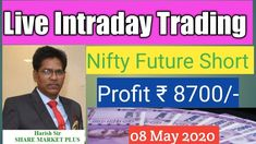 LIVE INTRADAY TRADING II NIFTY FUTURE SHORT II PROFIT Rs. 8700/-