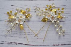Bridal hair pins Crystal hair pins Wedding hair clip
