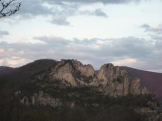 Seneca Rocks, West Virginia.