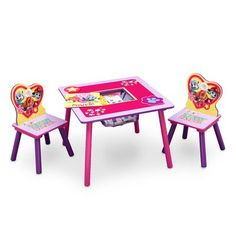 Nick Jr PAW Patrol Skye and Everest 3 Piece Table and Chair Set with Storage by Delta Children -- More info could be found at the image url.