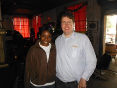 Attorney Evan Guthrie with Kimaya Brown Law Clerk at Evan Guthrie Law Firm at the South Carolina Bar Young Lawyers Division Happy Hour After Special Olympics Mid Winter Games At the Royal American In Charleston, SC on Saturday March 2nd 2013