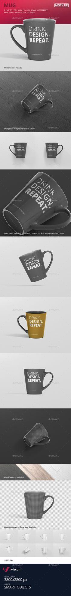 Mug Mockup  Cone — Photoshop PSD #presentation #tea • Available here → https://graphicriver.net/item/mug-mockup-cone/19276303?ref=pxcr