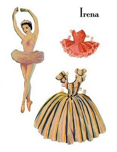 i love this paper doll ballerina.. the link to the website contains a printable pdf so you can dress her up at home :) love, love, love xx
