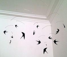 Sine Smed // Frk. Smed : Uro med svaler/ Mobile With Swallows