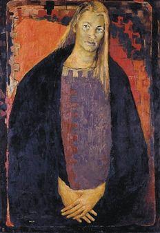 Clifton Pugh ~ Portrait of Esther