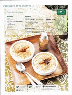 Revista bimby 2011.10 n11 Happy Foods, Sweet Desserts, Cooking Time, Foodies, Sweet Tooth, Bakery, Deserts, Food And Drink, Healthy Eating
