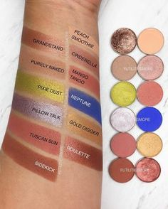 401 vind-ik-leuks, 14 reacties - Flo  l  Futilities And More (@futilitiesmore) op Instagram: 'The swatches with the labels of THE TARTELETTE IN BLOOM palette by @tartecosmetics DUPES with…'