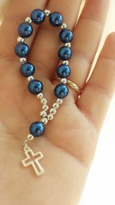Original Souvenirs for Communion - bijou - First Communion Favors, Baptism Favors, Beaded Jewelry, Handmade Jewelry, Beaded Bracelets, Rosary Bracelet, Rosary Beads, Bijoux Diy, Bar Necklace