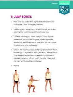 Kayla Workout, Workout Challenge, Bikini Body Guide, Kayla Itsines, Jump Squats, Bikini Workout, Bikini Bodies, Challenges, Bikinis
