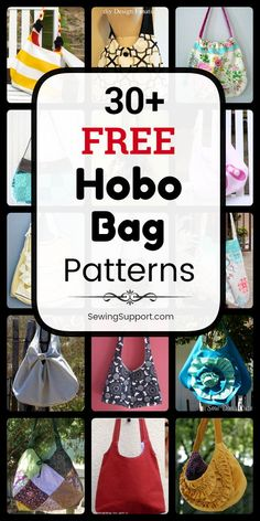 Free Hobo Bag patterns: Over 40 diy sewing projects and tutorials. Sew slouchy, crossbody, and sling styles, large and small hobo bags, and more. Instructions for how to make a fabric hobo bag. Diy Sewing Projects, Sewing Projects For Beginners, Sewing Tutorials, Sewing Ideas, Bag Tutorials, Unique Gifts For Boys, Gifts For Girls, Diy Handbag, Diy Purse