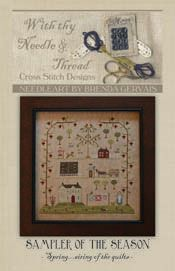 Sampler of the Season - Spring-sampler of the season, brenda gervais, with thy needle & thread  Love her designs!