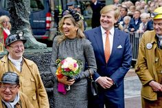 ♥•✿•QueenMaxima•✿•♥... October 8, 2015...Queen Maxima and King Willem-Alexander visit mine region Limburg