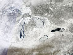 Great Lakes Approach Record With Over 90 Percent Ice Cover Japan Nuclear, Keweenaw Peninsula, Japan Earthquake, Science Photos, Upper Peninsula, Great Lakes, Embedded Image Permalink, In The Heights, Michigan