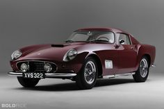 1956 Ferrari 250 GT Tour de France was Ferrari's mid sports racing cars. Lamborghini, Maserati, Ferrari Car, Bugatti, Classic Sports Cars, Luxury Sports Cars, Sport Cars, Classic Cars, Retro Cars