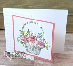 Quick and Easy Blossoming Basket card with Sponge Dauber