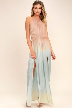 9224ff0a15d Grab a cocktail and enjoy the view in the Sweet Sunset Blush Pink Dip-Dye