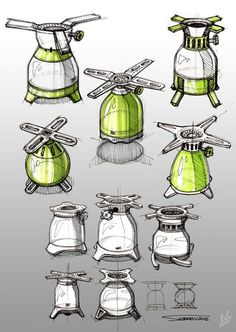 Sketches we like / Pencil / Green / Form Exploration / Outdoor Cooking / at…