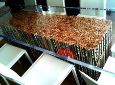 Hockey stick table..you don't even know how easy it would be for me to collect the hockey sticks needed...lol.