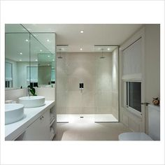 GAP Interiors - Modern bathroom with double shower - Picture library specialising in Interiors, Lifestyle & Homes