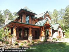 3 bedroom Craftsman House Plan 16858WG built by our client in North Carolina. Nailed it!