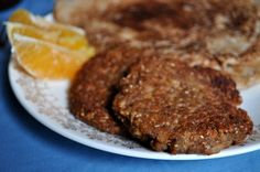 Vegan Sausage Patties½ c tvp ½ c boiling water ½ c whole wheat flour ¼ c oat or wheat bran 1 tbsp nutritional yeast 1 tbsp ground flax seeds, optional 1 tsp garlic powder ½ tsp crushed sage ½ tsp fennel seeds ¼ tsp black pepper ¼ tsp salt dash or two of cayenne, optional ¼ c water ½ tsp liquid smoke 3 tbsp soy sauce 1 tsp maple syrup ¼ tsp blackstrap molasses oil for frying