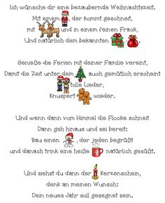 Spruch zu Weihnachten Christmas, Home Decor, Xmas Pics, Advent Season, Christmas Time, Wishing Well, Awesome Songs, Last Day Of School, Xmas