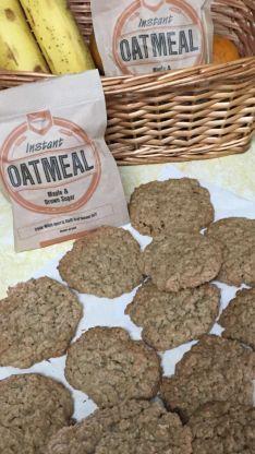 Instant Oatmeal Cookies, Instant Oatmeal Recipes, Shortbread Recipes, Cookie Recipes, Dessert Recipes, Desserts, Oatmeal Muffins, Oatmeal Bars, Oatmeal Raisins