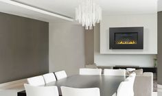 Ideal for modern and contemporary rooms, the Napoleon Plazmafire VF 31 Vent Free Gas Fireplace features easy installation and convenience. Napoleon Gas Fireplace, Vent Free Gas Fireplace, Gas Fireplaces, Ceiling Lights, Flooring, Contemporary, Berg, Furniture, Home Decor