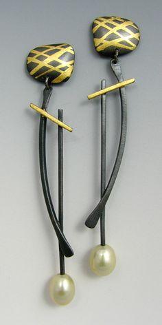 Pendulum Earrings: Judith Neugebauer: Silver Earrings - Artful Home