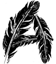 ©doublemranchdesign  feather A intaglio print sample art for banner project