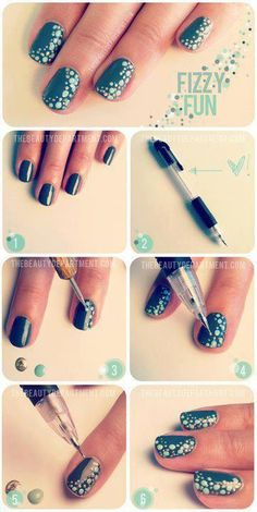 Have a look at some DIY nail art, DIY nail designs and DIY nail art ideas that you may consider taking into account. Take a look at the diy nail art step by step and if you love to experiment with your nails, you can try these nail art. Diy Nails, Cute Nails, Pretty Nails, Nail Nail, Nail Polish, Nail Pen, Teal Nails, Easy Nail Art, Cool Nail Art