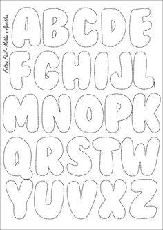 Feltro Fácil: Molde do Alfabeto   Felt Letters Template