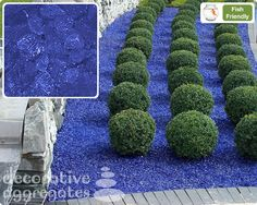 Blue Glass Landscape Produced from recyled bottles and jars. The glass is heated until molten and then colour is added. Glass Rocks, Fire Glass, Landscape Glass, Landscape Design, Landscaping With Rocks, Pool Landscaping, How To Makw, Glass Walkway, Garden Border Edging