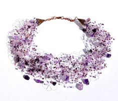 Amethyst Necklace, Lavender Necklace, Purple Jewelry, Bridal Jewelry, Bridesmaid Necklace, Bridesmaid Gift on Etsy, $39.00