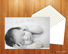Birth Announcement  New Baby  Printable Design  by blushprintables, $15.00