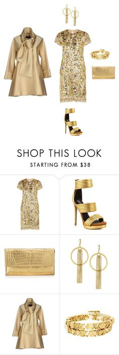 """""""GOLD FOR CARMEN"""" by giagiagia on Polyvore featuring Reed Krakoff, Mia Limited Edition, Nancy Gonzalez, Vince Camuto, Elie Saab, House of Harlow 1960, women's clothing, women's fashion, women and female"""