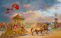 In honor of Gita Jayanti today, December Jai Sri Krishna! Jai Bhagavad-gita As It Is by AC Bhaktivedanta Swami Prabhupada! Krishna Painting, Krishna Art, Radhe Krishna, Shree Krishna, Krishna Leela, Hanuman, Shiva Art, Shiva Shakti, Hindu Art