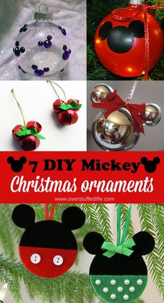 Easy DIY Disney-themed ornaments for Christmas—decorate your tree with Mickey and Minnie! (Fabric Christmas Ornaments)