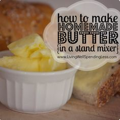 Making Homemade Butter In a Stand Mixer! Ok tried... but not so true. (Not worth the mess!)
