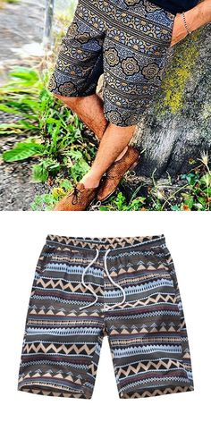 Buy summer shorts from the mens department at Nikiluwa. You& find the widest range of Shorts products online and delivered to your door. Bohemian Style Men, Hippie Outfits, Beach Outfits, Casual Wear For Men, Mens Fashion, Fashion Outfits, Mens Clothing Styles, Men Dress, Summer Shorts