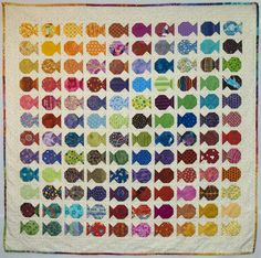 This quilt gets pinned a lot and is often referred to as the Snowball Fish with HSTs although no HSTs were used in this quilt. It seemed s...
