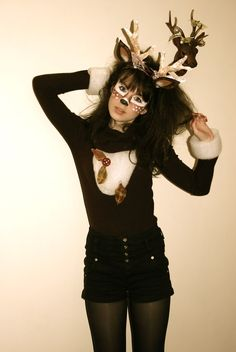 DIY deer costume (most likely will be doing this for Halloween this year)