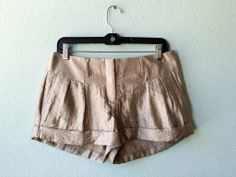 Express silver shorts 4 #express #metal #metallic #shorts #silver #size-4