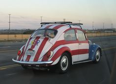 Americana VW Beetle, with the colors and the curves this could inspire anything in seusical