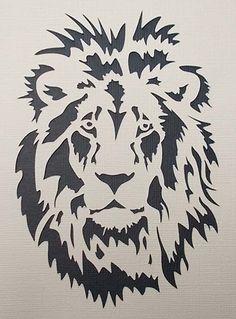 Resultado de imagem para riscos silhueta para pintar de leoes
